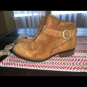 Born suede brown booties Sz 8